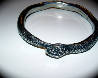 Year of the Snake pewter  bracelet hand made and original design