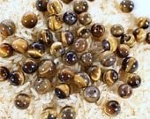 Vintage Bead Lot - 51 Tiger's Eye Shimmery Polished Beads