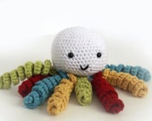 Knit Toy Octopus Rattle