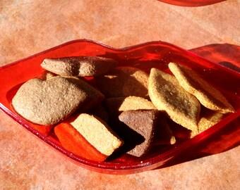 Gourmet Dog Treats - Kisses -  Lip Cookies Gift Set All Natural Dog Treats Organic Vegetarian - Shorty's Gourmet Treats