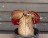 Primitive Lady Bug Mouse, lady bug, spring mouse, collectible