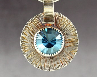 Blue Topaz - Blue Quartz - Natural Fused Quartz - Topaz Jewelry - Topaz Pendant - Handmade Jewelry - Gemstone Pendant - Blue Stone