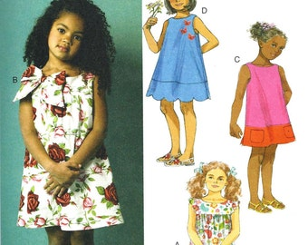 GIRLS CLOTHES PATTERN / Dress - Sundress / Child Sizes 1 to 3 Or 4 to 6 / Easy To Do