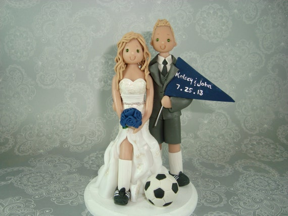 Amazing wedding cakes for you: Wedding cake toppers soccer