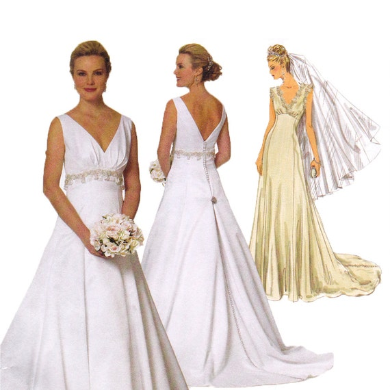 Wedding dress sewing pattern butterick 5462 bridal gown for Butterick wedding dress patterns