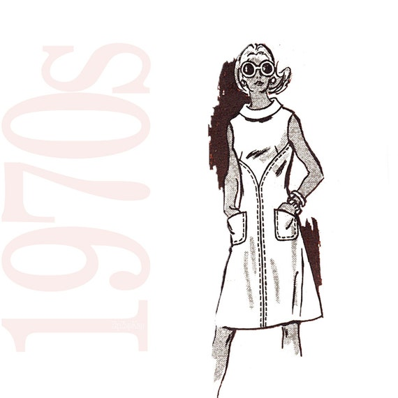 1970s Vintage Sewing Pattern - Mail Order Pattern - Womens Dress Pattern - 38 Bust Dress Pattern - Mail Order 4694 - Uncut, Factory Folds