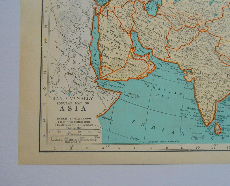 Asia Eastern Europe 1941 Vintage Atlas Map
