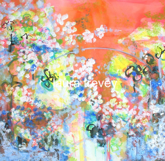Garden Party Abstract Print