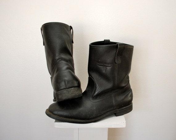Vintage Mason Western Pecos Pull On Work Boots Union Made Usa
