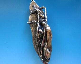 Jewish Mezuzah, Burning Bush in Bronze