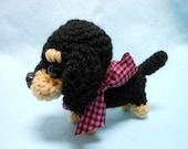Dachshund Crochet Dog, Amigurumi, Canine, Stuffed Animal, Weiner Dog