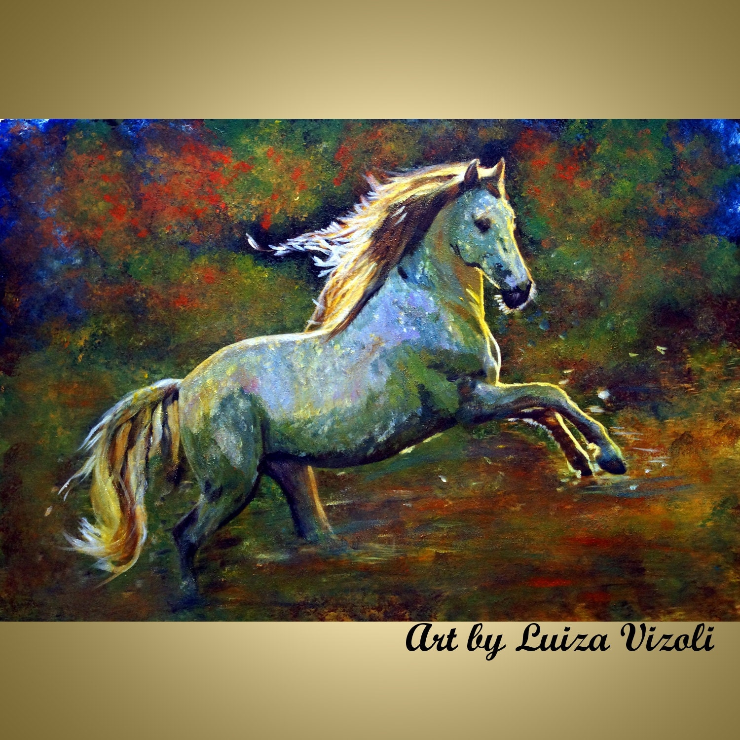 Mustang horse painting - photo#50