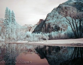 Half Dome Reflection - Infrared Photograph - 8.5 x 11