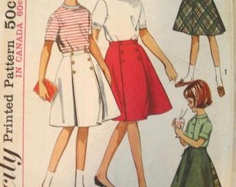 Simplicity Pattern 5431 Size 8 Girl's Wrap Around Skirt