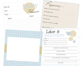Pregnancy, Baby Shower, Labor and Delivery page pack for baby book
