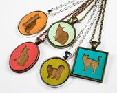 Cyber Monday Sale - 50% off today only - Custom Cat Pendant Necklace - Choose Your Color & Design