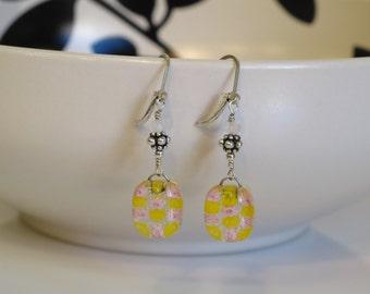 Millefiori Fused Glass Earrings 1059