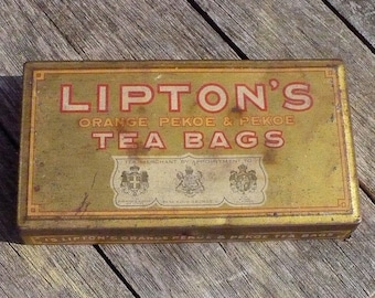 Lipton's Tea Bags Tin
