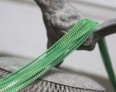 The shiny mint green