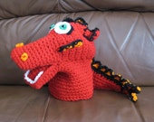 Crochet Red Dragon Hand Puppet