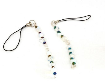 Two (2) Moonstone Flash Drive Lariat Charm made with Semi Precious Stone Chips