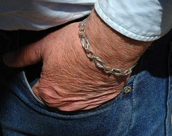 Sailors Knot Silver Filled  Bracelet