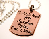 Daddy's Angel Dog Tag - For Him