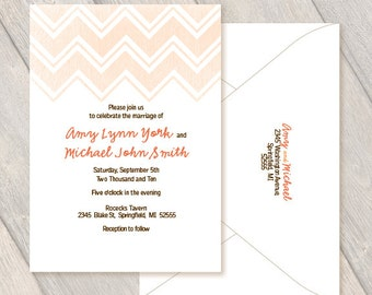 Chevron Custom Invitations, Wedding, Party, Birthday, Anniversary, Retirement Digital File