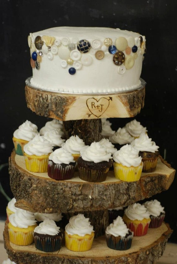 tree slice wedding cake stand uk rustic wood tree slice 4 tier cupcake stand for by postscripts 21254