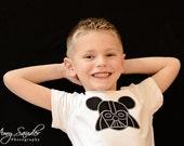 Boys Darth Mouse Inspired  Shirt