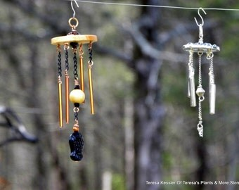 SALE-Wind-chime miniature-Hand made-Black and copper Asian look  1:12 scale-Secret Garden wind chimes