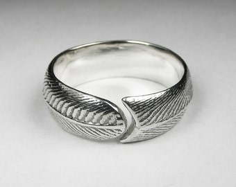 Men's Feather Wrap Ring