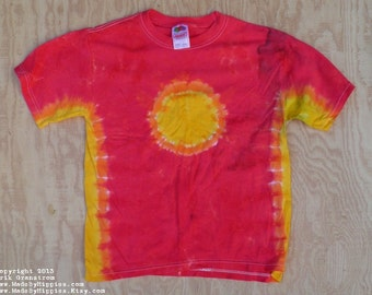 The Sun Tie Dye T-Shirt (Fruit of the Loom Size Youth L 14-16) (One of a Kind)