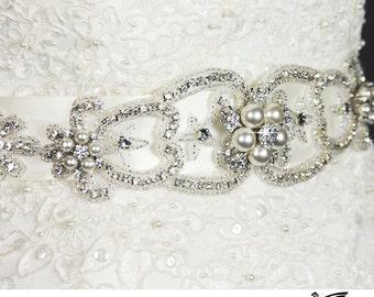 Bridal Sash Belt, Bridal Sash , Wedding Sash Belt , Crystal Wedding Belt, Crystal Sash, Wedding Belt Sash