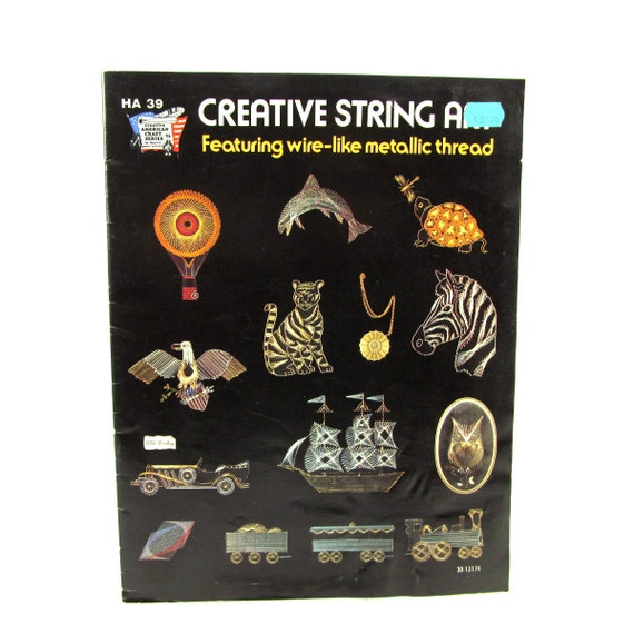 1975 Creatie String Art, Animals, Cars, Trains, Pattern Insert, 15 ...