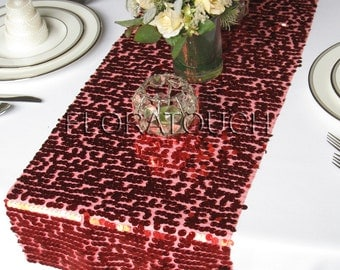 Red Sequin Table Runner Wedding Table Runners