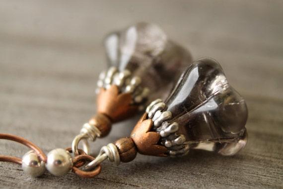 Mixed metal blossom earrings