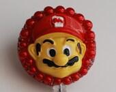 Hey Gamers It's Mario Vintage Zipper ID Badge Reel - RN ID Badge Holder