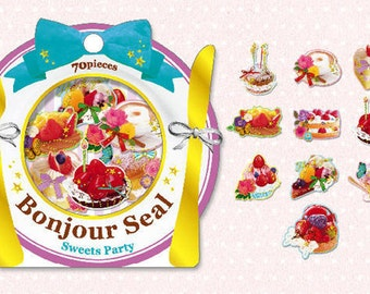 Fortissimo sticker sack 70 pieces (Sweets Party)