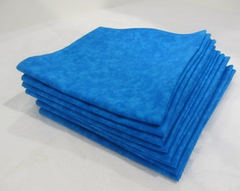 Cloth Napkins Reversible Marbled Turquoise
