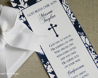 Printable Baptism Prayer Card // In His Keeping Poem // Baby's Name