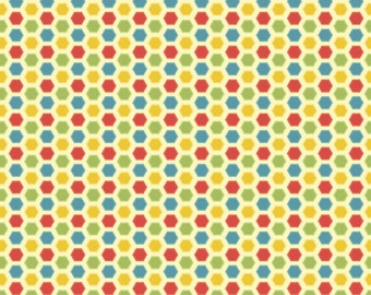 SUMMER SALE - Cruiser Blvd - Hexi in Yellow - 1 Yard - Sku C3225 - by Sherri McCulley for Riley Blake Designs