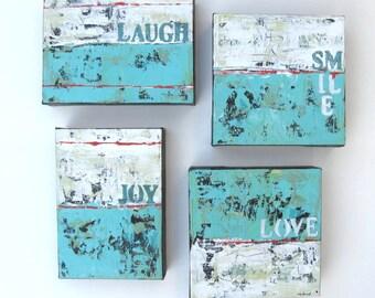 4 Custom word paintings , Acrylic, Word Art Canvas, Beach, custom decor, grouping