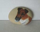 Hand Painted Rock Buttons--Dog Series--RESERVED for foxfirespark