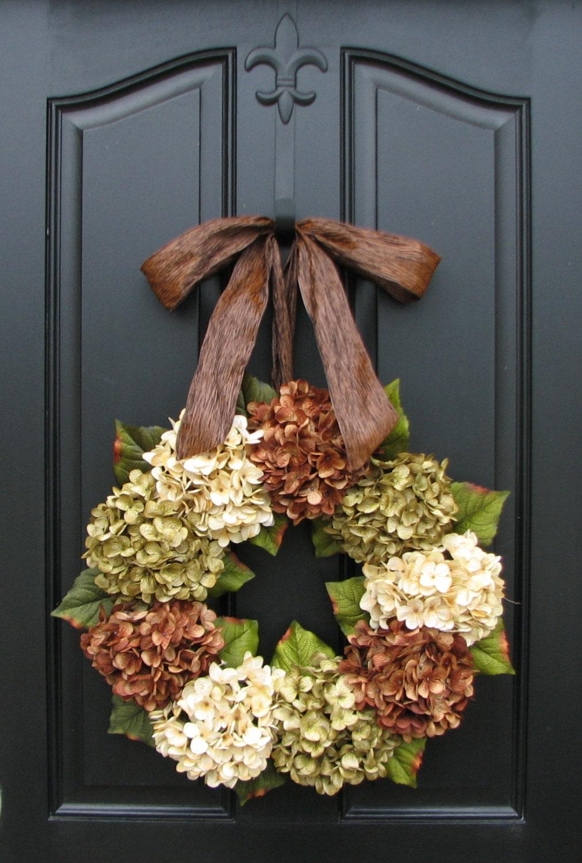 Hydrangea Wreath Spring Decorations Online Wreath Etsy