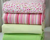 Queen duvet cover - essential collection - Pink & Green - choose your fabric