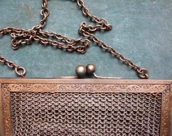 A Gold Art DECO Chain Link Evening Bag