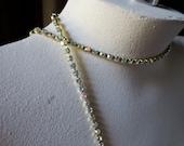 Rhinestone Chain SS12 PP24 Preciosa FULL Yard in AB/Raw  for Tribal Fusion, Jewelry or Costume Design