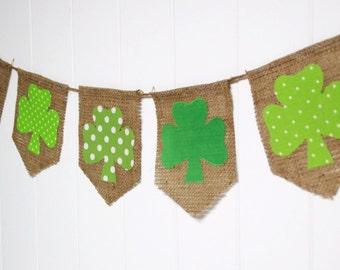 Shabby St Patrick's Day Shamrock Bunting by speckleddog on Etsy - tt team, avidteam