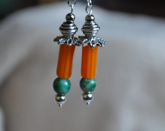 Chevron Lantern Earrings